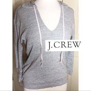 J. Crew Pull Over V Neck Gray Hoodie